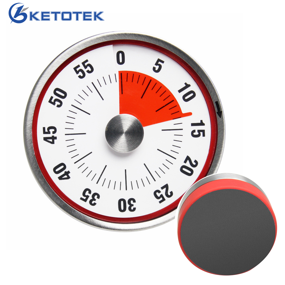 Kitchen Timer Countdown Cooking Alarm Counter Clock Time Reminder Magnetic Stainless Steel Mechanical Timer universal oven timer buzzer alarm reminder