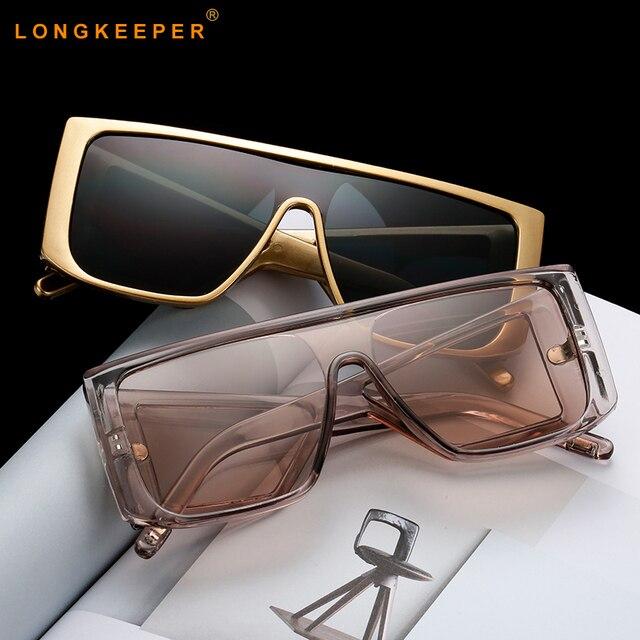 Негабаритных щит солнцезащитные очки для женщин для 2019 Элитный бренд большой рамки Дамы Оттенки черный, розовый Защита от солнца очк