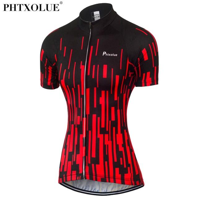 Phtxolue Summer Cycling Jersey Women Mtb Mountain Bike Shirt Black