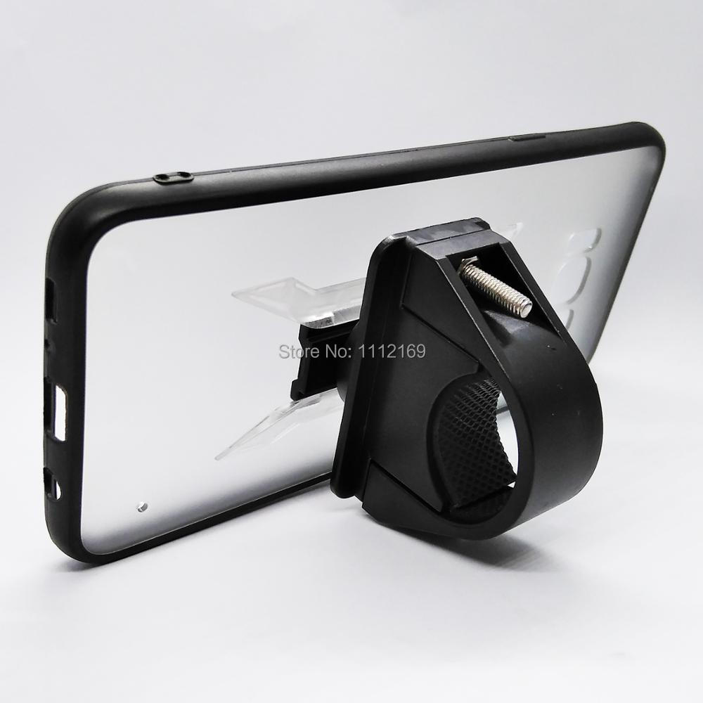 Bike HandleBar Mount Cell Phone Holder Rail Mount Holder Stand With Grip Clip Case For Samsung Galaxy S8/S8 Plus/S9/S10/S10E