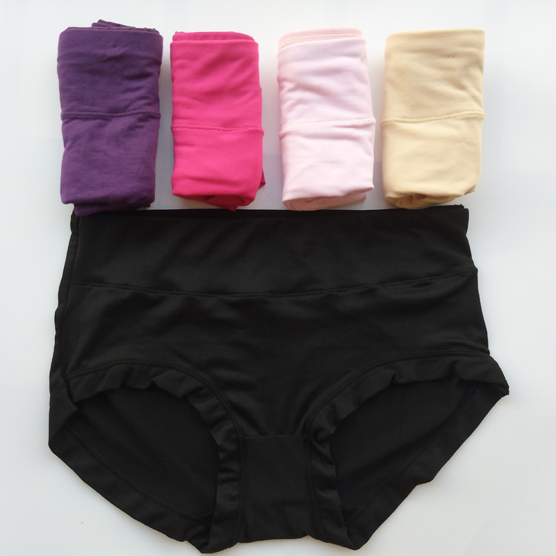 5 Pcs/lot Underwear Women   Panties   Cotton   Panty   Solid Sexy Briefs Tanga Cute Thong G-String For Women Underwear Calcinhas 5XL