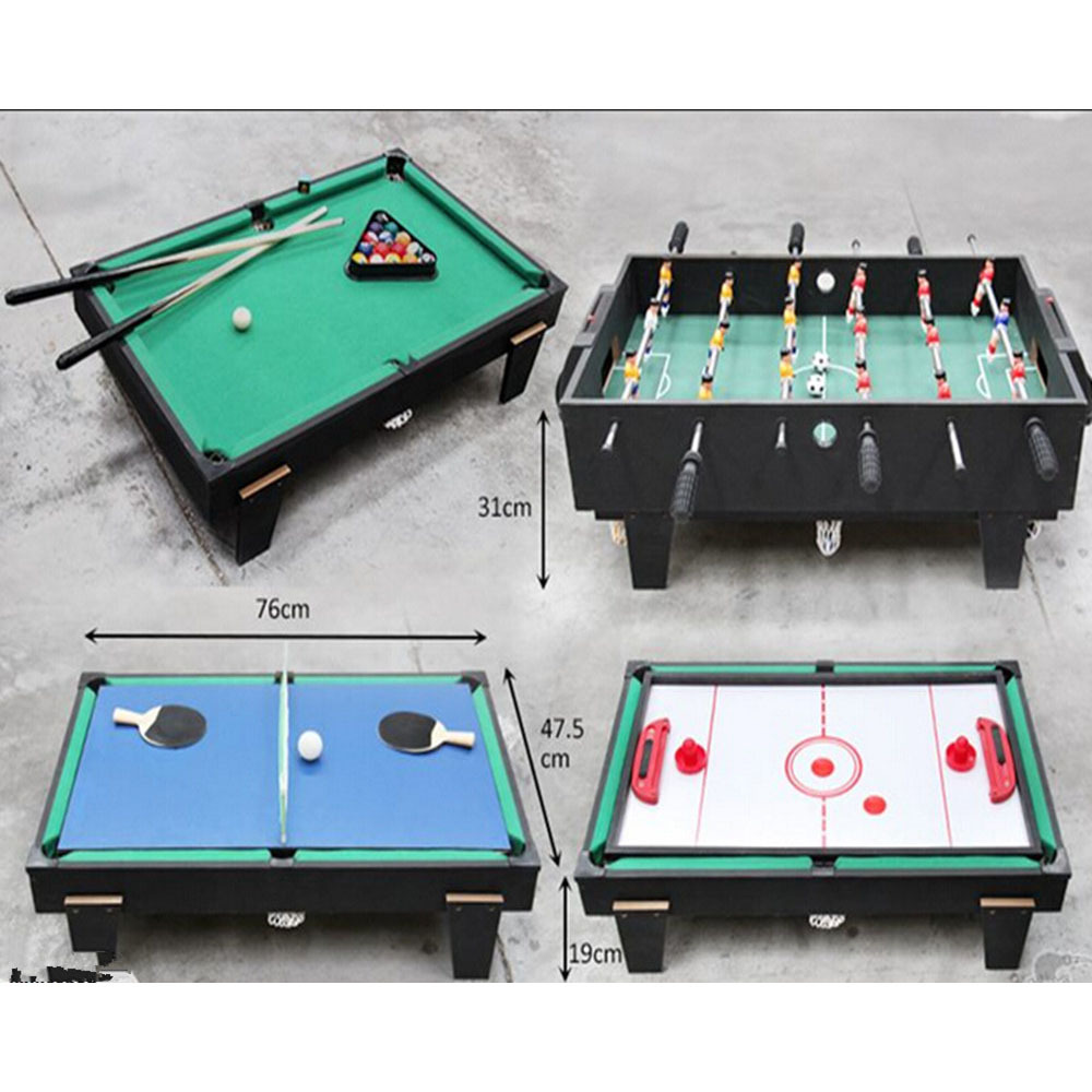 4 In 1 Multi Game Table For Children Pool / Air Hockey / Table Tennis / Table  Soccer Mini Game Table In Table Tennis Tables From Sports U0026 Entertainment  On ...