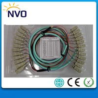 SC/UPC OM3 Multimode,50cm from Cable to Connector,1.5M Fiber Optic Indoor bundle Pigtail, 12 Strand,50/125, 10 Gigabit