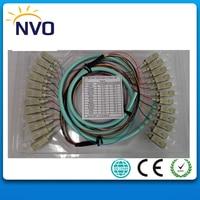 SC/UPC OM3 Multimode,50cm from Cable to Connector,1.5M Fiber Optic Indoor bundle Pigtail, 12 Strand,50/125, 10 Gigabit
