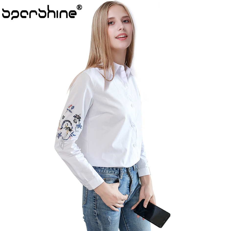 SPARSHINE Women Blouse Women tops Cothing Cotton Floral Womens Tops And Blouses Long Sleeve Blusas Feminina