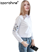 SPARSHINE Women Blouse Women tops Cothing Cotton Floral Womens Tops And Blouses Long Sleeve Blusas Feminina 2017 Autumn Fashion