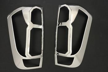 2017 ABS car chrome strips for nissan navara np300 accessories rear lamp cover trim for nissan navara 2015 2016 auto plate parts