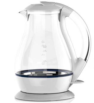 High Grade Schott Glass Capacity 1 7L Kitchen Electric Kettle White