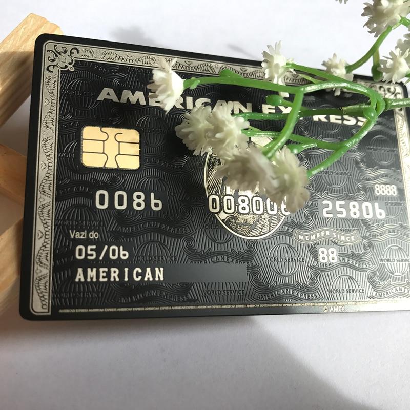 American Express Noir Centurion Banque Carte personnaliser vous-même GRAND CADEAU Livraison gratuite