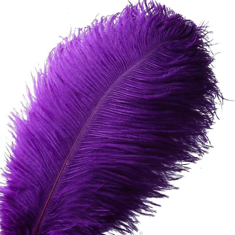 Commercio all'ingrosso di Alta Qualità Viola piume di struzzo 15-70 centimetri 10-200 pz/lotto FAI DA TE Del Partito/Decorazione di cerimonia nuziale Piume e per artigianato