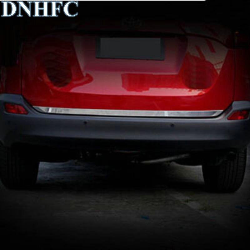 DNHFC For Toyota RAV4 2014 2015 stern door trim The tail door light New RAV4 modified special back door trim