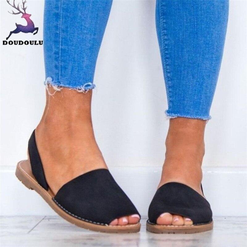 Gghb @ Frauen Damen Fisch Mund Espadrilles Sommer Chunky Urlaub Schuhe Flache Sandalen Schuhe Frauen Sandalen