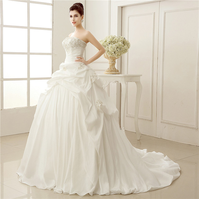 Cinderella Style Wedding Gowns: Real Images New Elegant Light Blue Sweetheart Cinderella