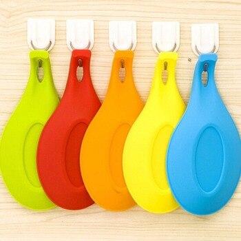 Nosii soporte de cuchara suave de silicona resistente al calor, soporte de cuchara, taza de bebida, posavasos, taza, bandeja de aislamiento de escritorio, alfombrilla para colgar en la cocina