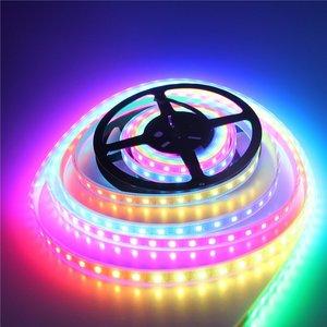 Image 4 - 50 M 10X5 M 60 LEDS/M 300 LEDs SK6812 WS2812B Individualmente Endereçável 5050 RGB LED Strip luz LED Pixel Lâmpada Flexível
