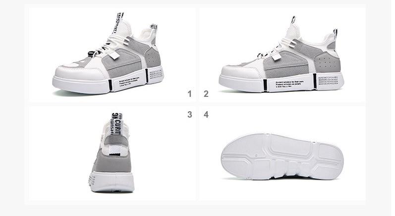 Men Casual Shoes 2018 Spring Autumn Men Shoes Breathable Mesh+Leather Patchwork Flats Footwear Men Sneakers Shoes20180615-180011