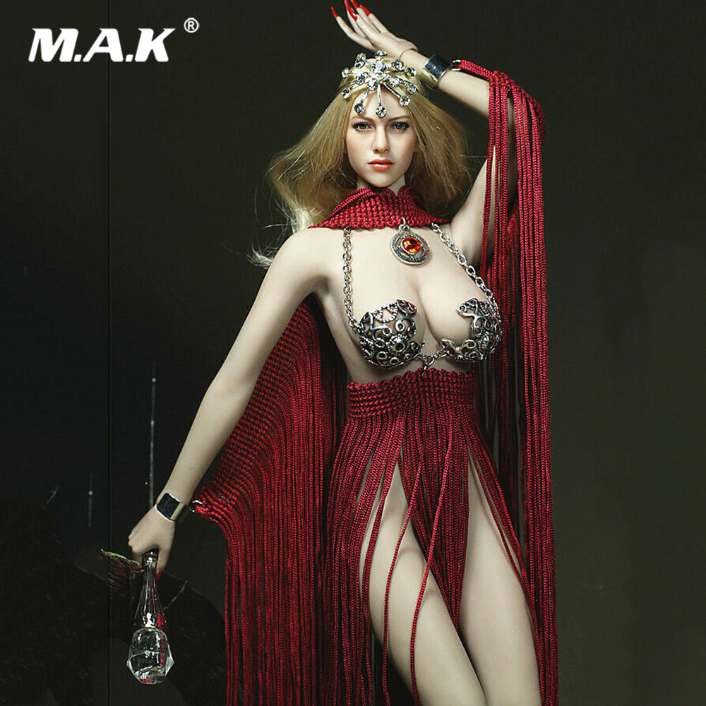 1/6 Sexy Goddess of Fire Red Dress Cane Clothes Accessories Model For 12 TBLeague PH Big Bust Steel Bone Action Figure1/6 Sexy Goddess of Fire Red Dress Cane Clothes Accessories Model For 12 TBLeague PH Big Bust Steel Bone Action Figure
