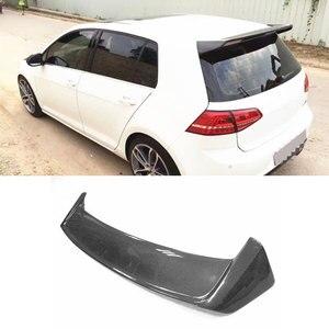 Для Golf MK7 задний спойлер из углеродного волокна крыло крыши для VW Golf 7 VII MK7.5 Стандартный GTI R спойлер 2014-2017 украшение лобового стекла
