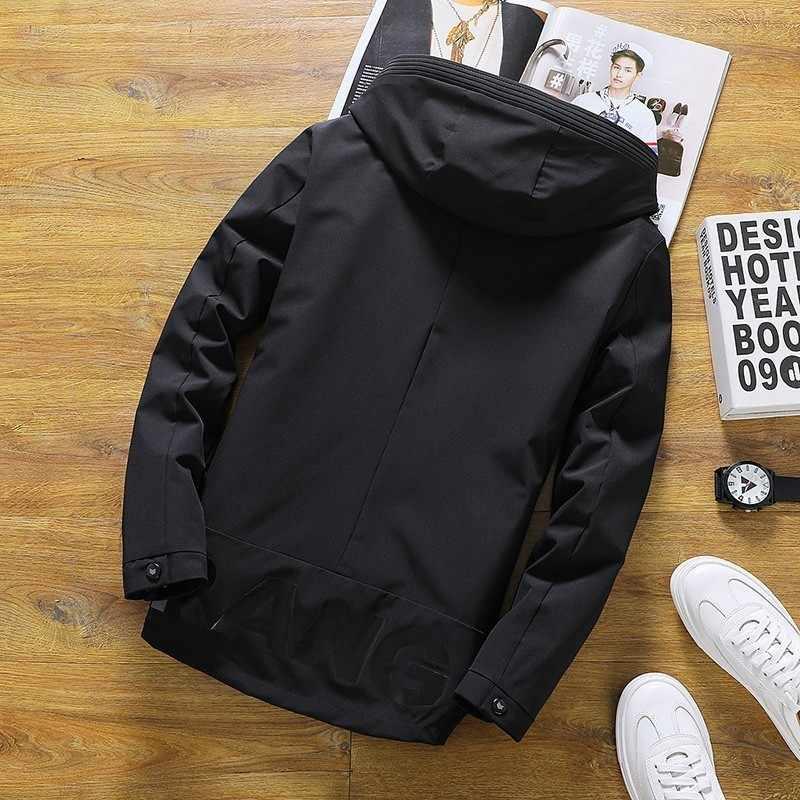 Мужские куртки весна осень пальто с капюшоном одноцветная Мужская спортивная одежда Стенд воротник Тонкий куртки мужской бомбер куртки 4XL
