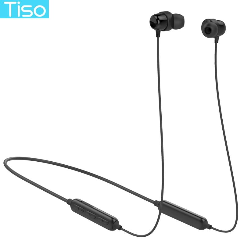 Tiso S8 Bluetooth casque sans fil écouteur neckband MP3 musique jeu vidéo casque IP67 étanche sport microphone écouteurs