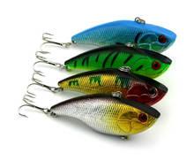 4pcs Fishing Lures 7.5cm/18g Bait Hard 3D VIB Bionic Artificial Vibration Minow Crankbait Swimbait 6# Hooks Tackle PRO BEROS