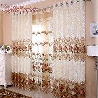 Helen Rèm Thêu Hoa Nhung Curtain Đối Living Room Phong Cách Sang Trọng Treo Lên Bức Màn Cho Phòng Ngủ Châu Âu Rose Sheer