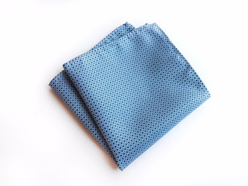 25*25 Cm Personality Geometric Men Silk Satin Pocket Square Handkerchief