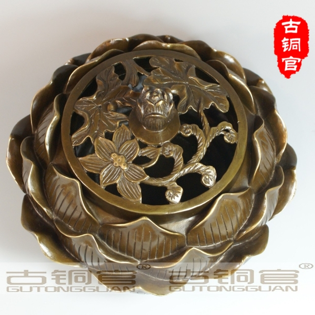 wholesale brass factory BRASS copper lotus incense burner aromatherapy furnace home decorationwholesale brass factory BRASS copper lotus incense burner aromatherapy furnace home decoration