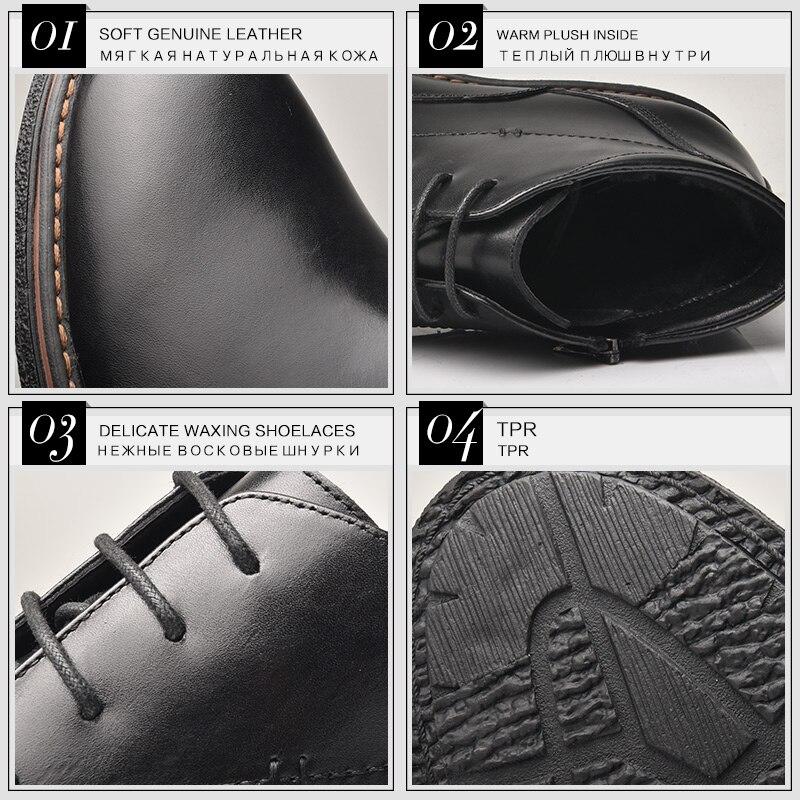 OSCO 2019 botas informales de negocios zapatos de hombre de cuero genuino zapatos de moda para hombre Botas de invierno botas de tobillo para Hombre Zapatos de invierno-in Botas básicas from zapatos    2