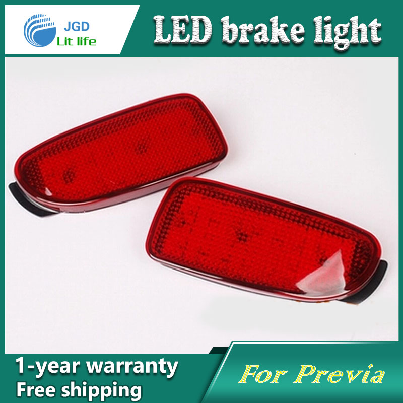 Car Styling Rear Bumper LED Brake Lights Warning Lights case For Toyota Previa ACR30 ACR40 Accessories Good Quality for toyota highlander iii 2014 2016 automobile stainless rear bumper cover decoration car styling stickers accessories