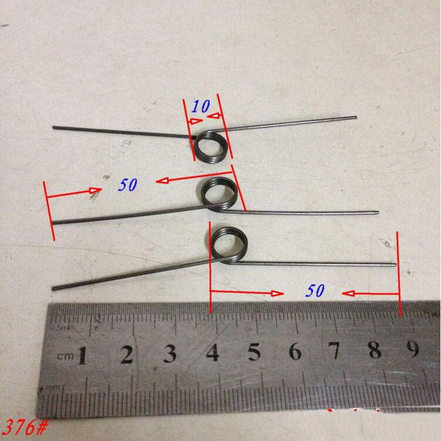 Torsionsfeder drahtdurchmesser 1,0 außendurchmesser 10 MM länge 50 ...