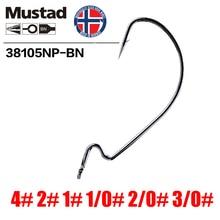 Mustad Norway Origin Fishing Hook Top Quality High Carbon Steel Striped Bass Crank Hook,4# - 3/0#,38105NP-BN