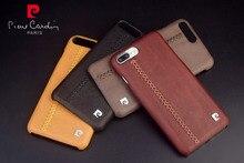 Пьер Карден Подлинной Кожа Weave Line Design Case Чехол Для iPhone 7/7 Плюс Бесплатная Доставка