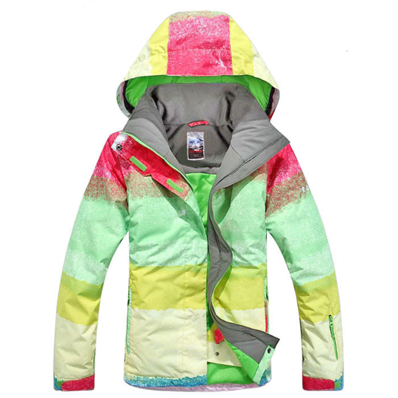 Free shipping Gsou Snow Winter Women Ski Jacket Waterproof Windproof Outdoor Women Snowboard Skiing Suit Warm Breathable 2017 hot sale gsou snow high quality womens skiing coats 10k waterproof snowboard clothes winter snow jackets outdoor costume