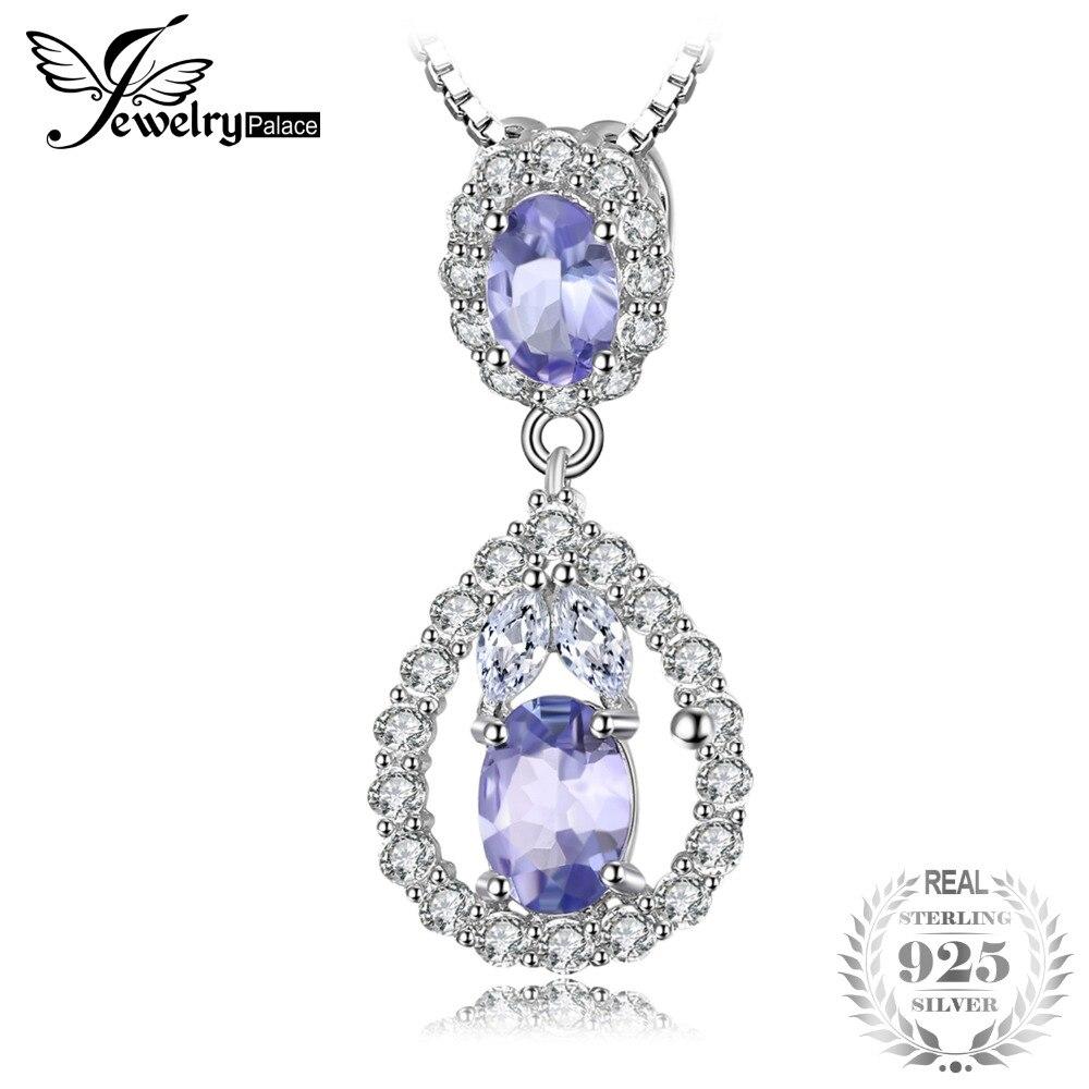 Здесь продается  JewelryPalace Elegant 2.2ct Natural Tanzanite White Topaz Pendant Necklace Real 925 Sterling Silver Jewelry For Women 18 Inches  Ювелирные изделия и часы
