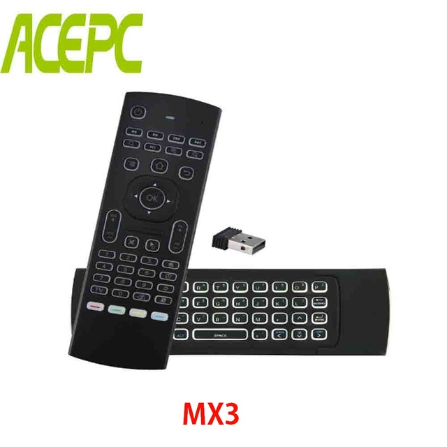 ACEPC MX3 2, 4G Air Mouse Smart Control Remoto retroiluminado inalámbrico  teclado IR Función de aprendizaje para X96mini A95X Android TV caja