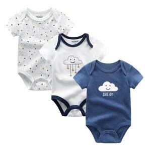 Unicorn Baby Bodysuits Girls Roupas-De-Bebe Unisex 3pcs/Lot 0-12M