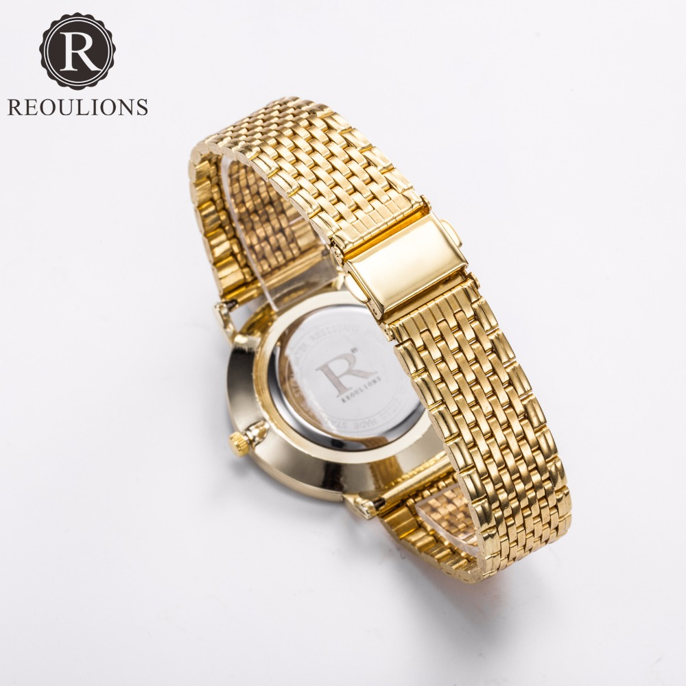 REOULIONS Top Luxury Brand Fashion Arabski Numbers Watch Stainless - Zegarki damskie - Zdjęcie 4
