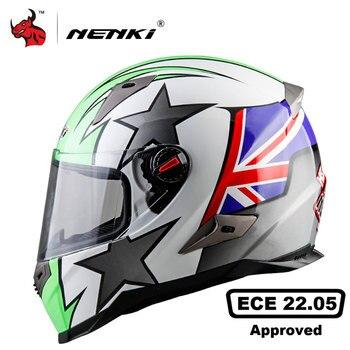 Casco De Moto NENKI, casco De motocicleta para hombre, máscara completa para Motocross, Capacete De carreras De Motocross, certificación ECE