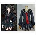 Аниме Черный Пуля Aihara Enju косплей костюм TendoKisara лолита партия школьная форма матрос dress costume