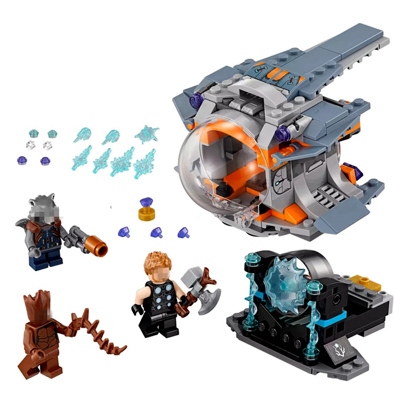 Upgraded Thor Weapon Quest Set Building Blocks Compatible Legoing Super Hero 76102 Avengers Infinity War Guardians of The Galaxy