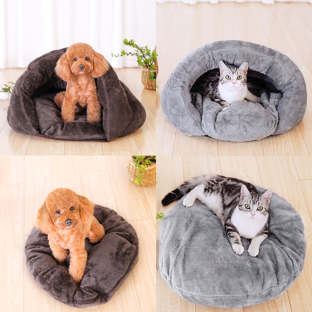 Dog Cave Bed With Blanket And Mat Cushion