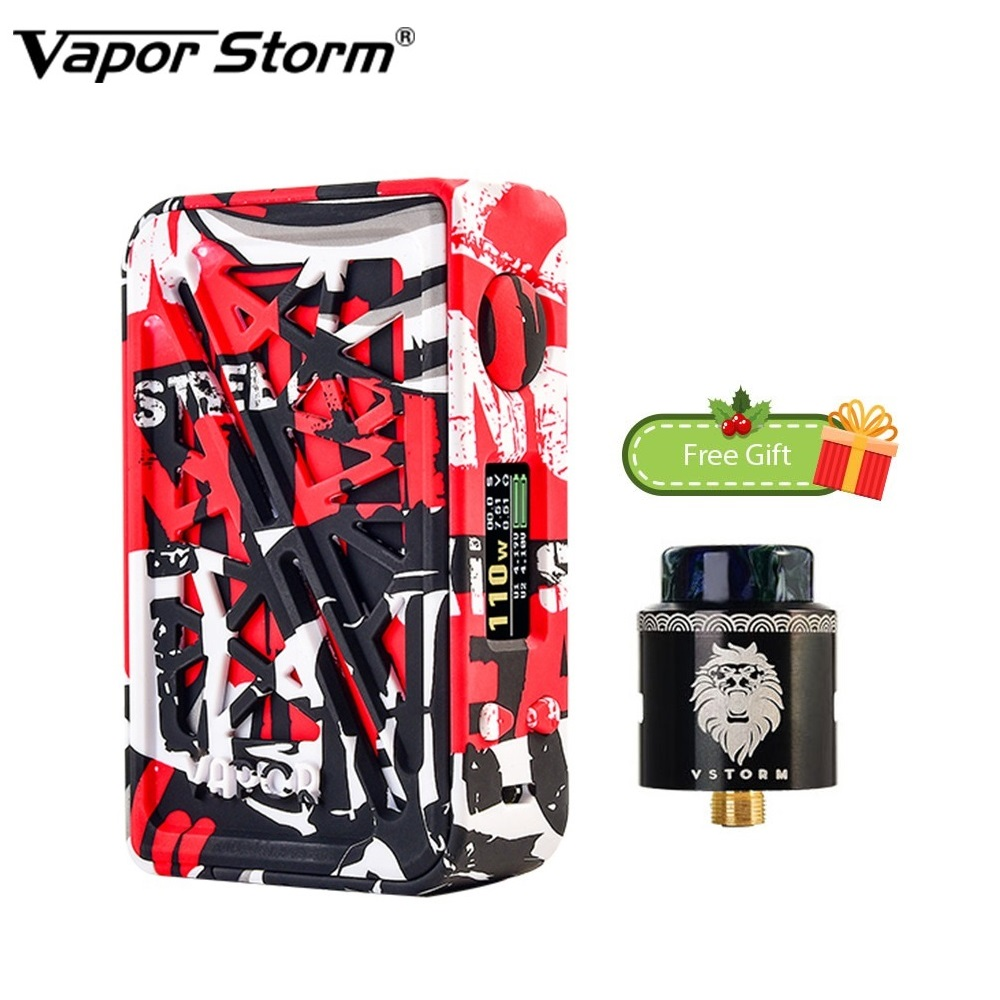 Free Gift! Vapor Storm Subverter 200W TC Box MOD with Vapor Storm Lion RDA Powered By Dual 18650 Battery Vape Box Mod Vs Drag 2Free Gift! Vapor Storm Subverter 200W TC Box MOD with Vapor Storm Lion RDA Powered By Dual 18650 Battery Vape Box Mod Vs Drag 2