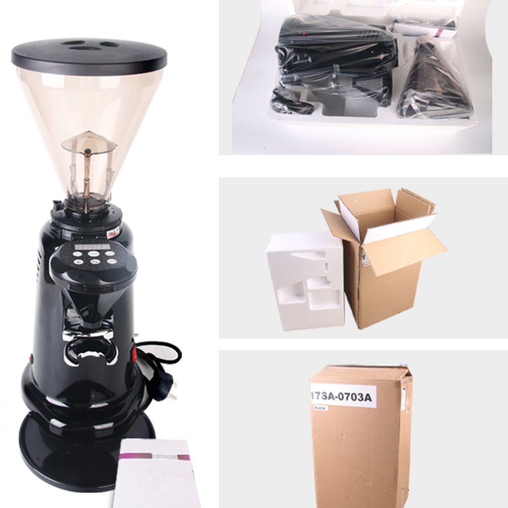 ITOP Commercial Coffee Grinder Concial Burr Grinders Electric Coffee Bean Mills Heavy Duty Powder Machine EU US Plug in Electric Coffee Grinders from Home Appliances