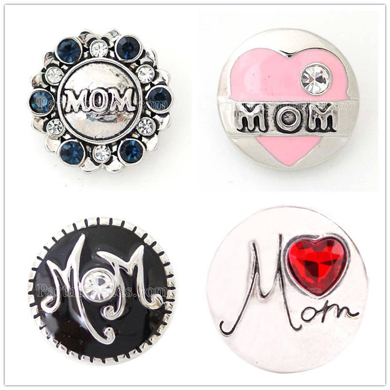 New Fashion motherss day gift snap button 20mm mom buttons snap jewelry fit for snap Bra ...