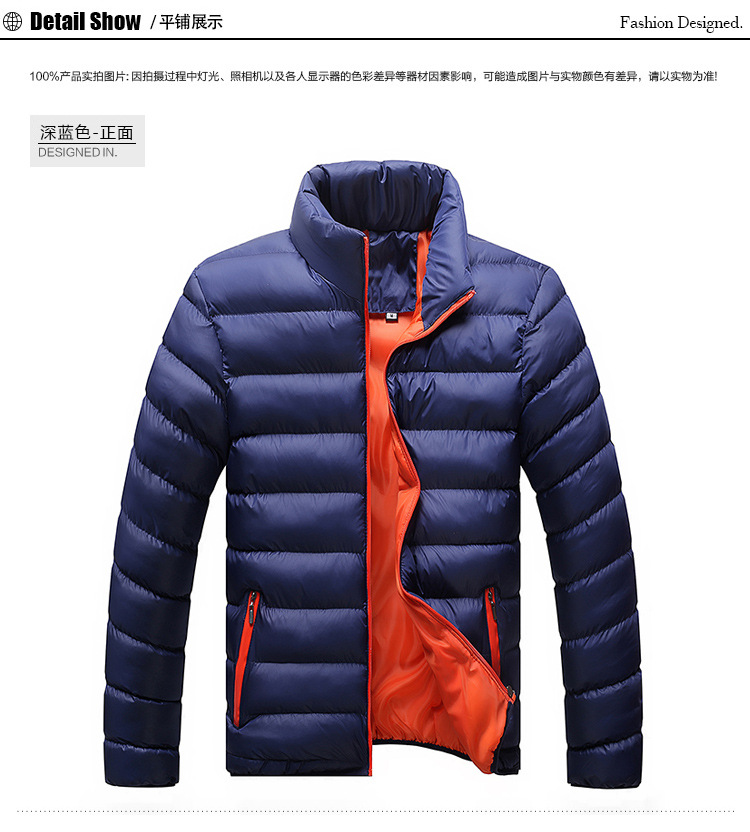Winter Jacket Men 2019 Fashion Stand Collar Male Parka Jacket Mens Solid Thick Jackets and Coats Man Winter Parkas M-6XL 24