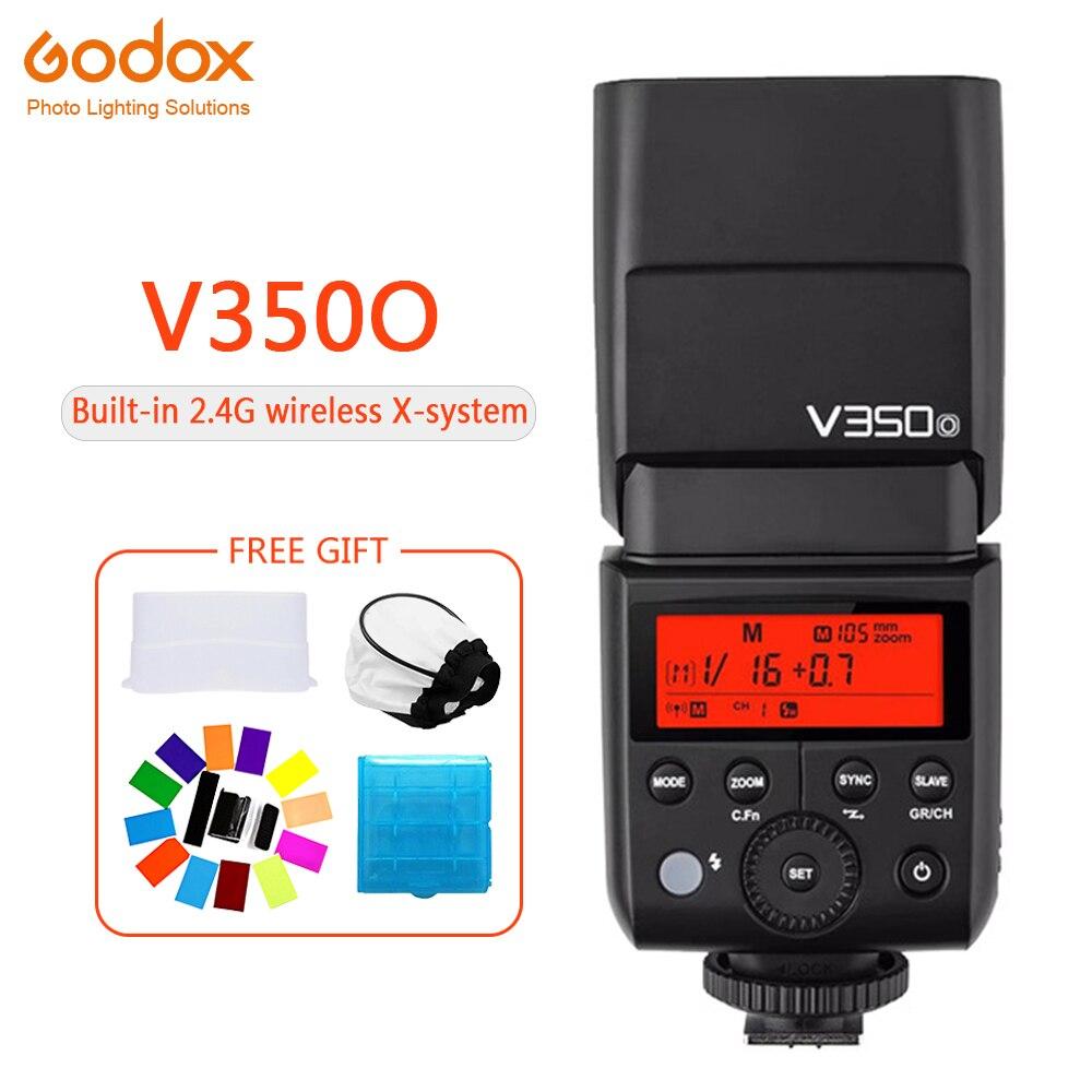 Godox V350 V350F Speedlite flash lithium battery TTL HSS 1/8000s 2.4G Wireless photography for Fujifilm X-Pro2/X-T20 /X-T1/X-TGodox V350 V350F Speedlite flash lithium battery TTL HSS 1/8000s 2.4G Wireless photography for Fujifilm X-Pro2/X-T20 /X-T1/X-T