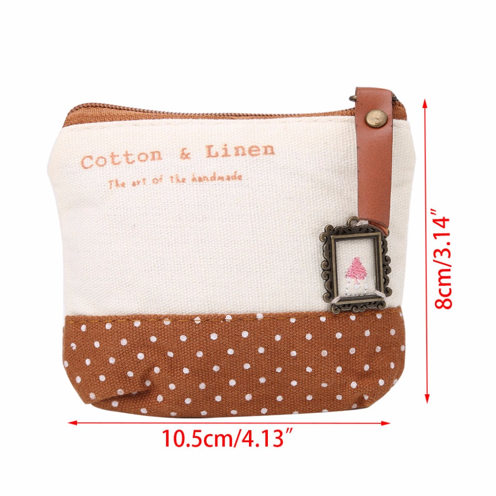 THINKTHENDO Casual Cute Wallet Coin Purse for Girls Women Change Purse Pocket Small ID Credit Card Holder 4 Color