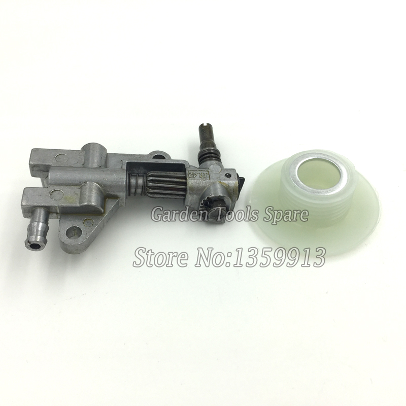 Chainsaw oil pump and worm gear for 45cc 52cc 58cc 4500 5200 5800 chainsaw 20pcs bulk price chain saw parts oil pump worm gear fit chinese saws komatsu zenoah timbertech silverline taurus 4500 5200 5800