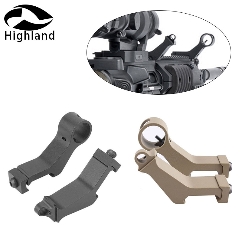 Hunting Accessories Airsoft Handguard 45 Degree Angle Offset Side Backup Iron Sight Front Rear Sight Set Fit 20mm Picatinny Rail